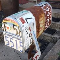 A well traveled mailbox.