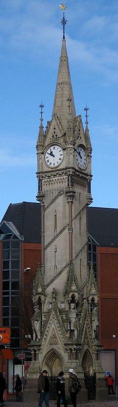Haymarket Memorial Clock Tower, Leicester, England.......Қɽα₰