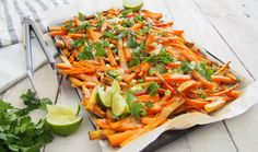 Even if you think cheese is bad for you, checkout this article and you'll probably be tempted to make these delicious cheesy sweet potato fries.