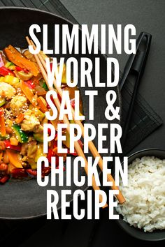 Homemade Slimming World salt and pepper chicken recipe that is healthy and easy to make. You can use thighs, breast, or leg meat, and it makes a beautiful Chinese fakeaway meal for the whole family! Slimming World Chicken Recipes, Chicken Lunch Recipes, Recipes With Chicken And Peppers, Chicken Stuffed Peppers, Chinese Fakeaway, Sandwich Fillers, Chicken And Chips, Prawn Dishes, New Recipes