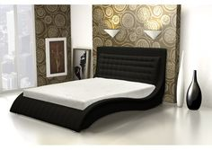 lit capitonn sommier neptune 160x200 cm blanc mymeubledeco lit capitonn. Black Bedroom Furniture Sets. Home Design Ideas