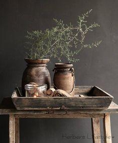 Oud houten dienblad