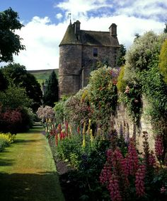 Falkland Palace and Garden, Fife, Scotland, a royal palace of Scottish Kings, dates from the 14th century