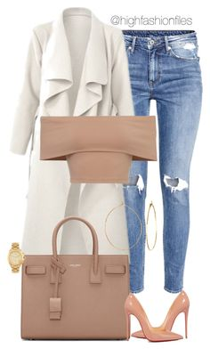 """Untitled #2569"" by highfashionfiles ❤ liked on Polyvore featuring H&M, Christian Louboutin, Yves Saint Laurent, Phyllis + Rosie and Michael Kors"