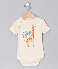 Oatmeal 'Giraffe' Organic Bodysuit - Infant  http://www.zulily.com/invite/ashleysbookshelf541