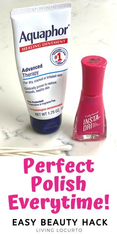 How to apply nail polish without getting it on your skin. Apply nail polish perfectly with this easy hack for how to paint your finger nails with no mess.