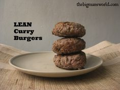 Easy Lean Curry Burgers- Ready in under 10 minutes and completely grain-free, gluten-free, paleo, and clean eating. most importantly- it's delicious!
