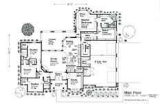 2838 sq-ft   House Plan 92233 Swap Mech Room & Safe Room.... Extend Pantry into garage, Extend safe room the entire length of office and have hidden door from office
