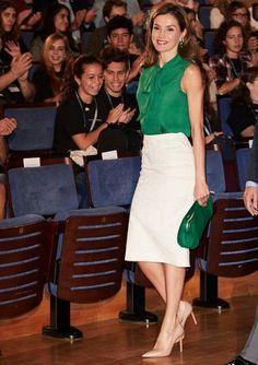 Queen Letizia visits International School of Music of Oviedo