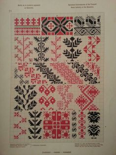 Stickerei aus Bukowina Palestinian Embroidery, Hungarian Embroidery, Folk Embroidery, Learn Embroidery, Modern Embroidery, Cross Stitch Embroidery, Embroidery Patterns, Cross Stitch Geometric, Cross Stitch Borders