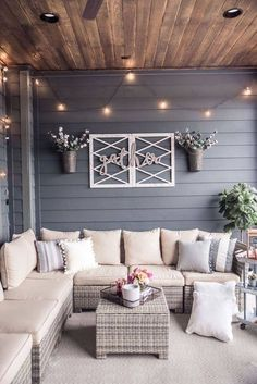 back patio decor Decor, House Design, House, Terrace Decor, Interior, Home, Outdoor Living, New Homes, Interior Design