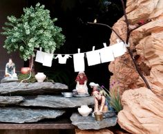 Navidad belenes bíblicos pesebres lavanderas