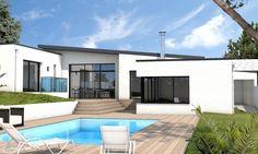 plan de maison moderne plain pied TEMPLATE (5) | Projets à essayer ...