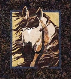 11109 PT Spring Storm, A Horse Quilt Pattern by Toni Whitney for Bigfork Bay Cotton Company