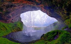 Seljalandsfoss - one of the most famous waterfalls of Iceland.