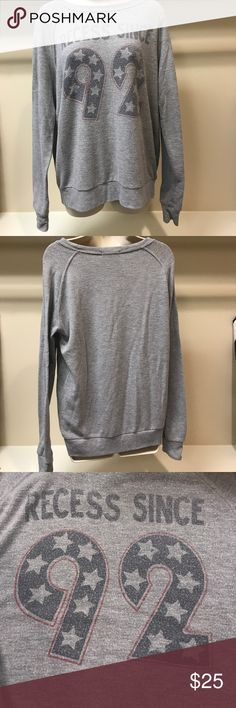 Junk Food vintage sweatshirt Recess Since 92 grey Super comfy vintage looked, worn in looking sweatshirt. Excellent Used Condition. Purchased at Nordstrom Spring 2017. Please check out the rest of my closet to bundle and save! Junk Food Tops Sweatshirts & Hoodies