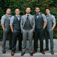 "2lifeweddings: ""The groom should always stand out by wearing something distcint from his groomsmen's outfits. """