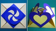 Love card sealed with hearts - learn how to make a heart-lock greeting card - EzyCraft Paper Cards, Diy Cards, Diy Paper, Fancy Fold Cards, Folded Cards, Handmade Greetings, Greeting Cards Handmade, Pop Up Cards, Love Cards