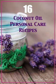 16 Coconut Oil Personal Care Recipes GoodGirlGoneGreen.com #coconutoil #ecipes #coconut #personalcare