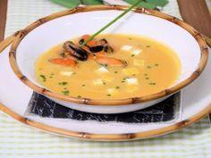 Receta | Sopa fría de calabaza, naranja y mejillones - canalcocina.es