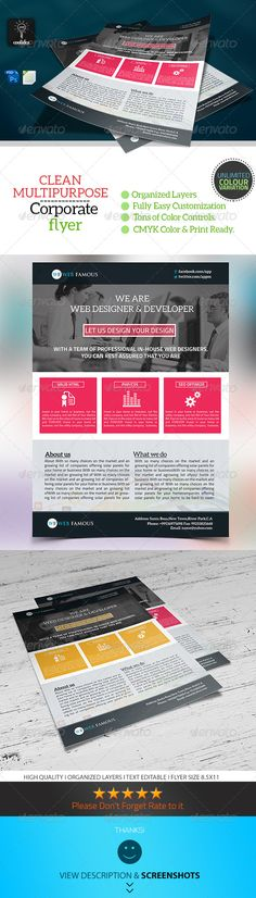 Modern business flyer template a4 Business flyer templates - For Sale Ad Template