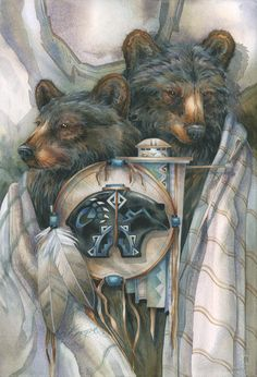Bergsma Gallery Press::Paintings::Natural Elements::Southwest::Bear Medicine- Prints