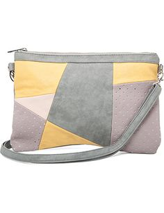 Fly Away Patchwork Clutch; Mink Pink