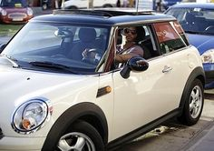 Usher drives a MINI Cooper