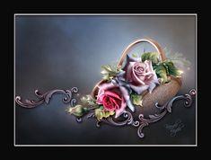 A basket full of roses.