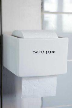 Ceramic toilet paper holder