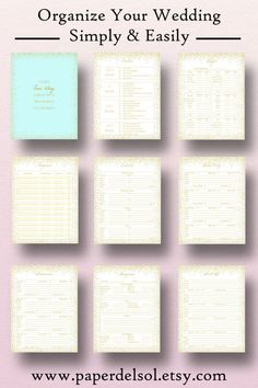 Wedding Planner Book Wedding Planner Printable Planning Binder