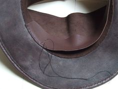 Leather Aussi/bush hat.....The making of.