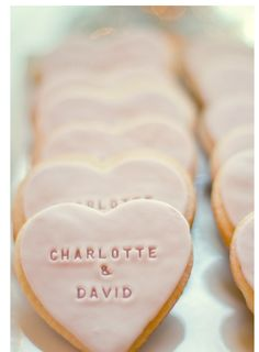 These remind me of the Valentine hearts - great favor or dessert at your #Wedding if on Valentine's Day!