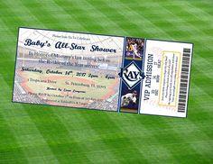 Tampa Bay Rays Inspired MLB Baseball Ticket Baby Shower