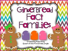 24 Gingerbread themed cards designed to help students with fact families to 20 Christmas Math, Christmas Activities, Math Activities, Winter Activities, Math Resources, Christmas Ideas, Kindergarten Christmas, School Resources, Christmas Printables