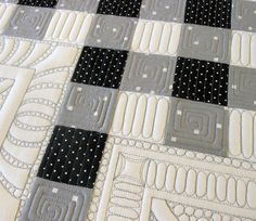 Cool modern quilting