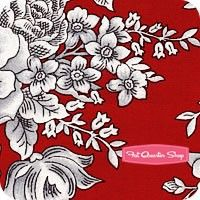 French Laundry Red Large Floral Yardage SKU# 9713-88