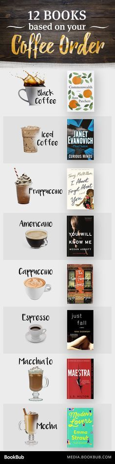 12 must-read books to read based on your coffee order. Book Clubs, Book Club Books, Read Books, My Books, How To Order Coffee, 12th Book, Word Nerd, Thriller Books, World Of Books