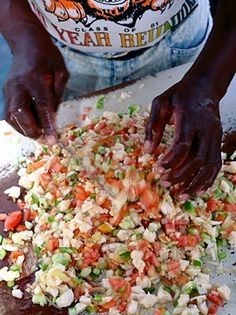Before you take that trip to the Bahamas, go ahead and add a little island cuisine to your weekly dinners. Learn how to make Conch Salad. Conch Recipes, Fish Recipes, Seafood Recipes, Salad Recipes, Cooking Recipes, Healthy Recipes, Yummy Recipes, Recipies, Conch Salad
