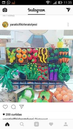 Diy And Crafts, Crafts For Kids, Arts And Crafts, Paper Crafts, Diy Paper, Vegetable Crafts, Class Decoration, Art N Craft, Spring Crafts