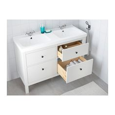 HEMNES / ODENSVIK Meuble pour lavabo, 4 tiroirs - blanc - IKEA