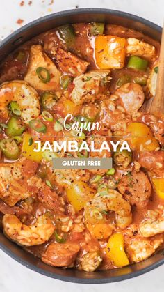 A delicious Jambalaya recipe classically prepared with chicken shrimp and andouille sausage. This easy cajun stew is a healthy meal with rice vegetables and plenty of protein all simmered in one pot. Okra Recipes, Cajun Recipes, Haitian Recipes, Donut Recipes, Crockpot Recipes, Gumbo Recipes, Dinner Recipes, Creole Recipes, Salmon Recipes