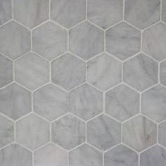 Carrara Hexagon Tiles: Remodelista