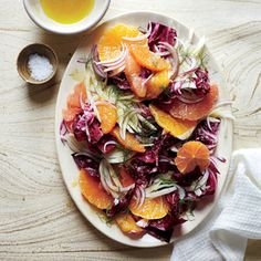 Fennel and Radicchio Salad with Citrus Vinaigrette | MyRecipes.com Let the salad stand at room temperature at least 30 minutes before serving. This allows the dressing to penetrate the vegetables and tenderize them a bit for a less aggressive crunch.