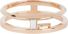 Monique Péan Diamond & Gold Double Blueprint Band -  - Barneys.com