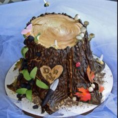 Log cake for the hubby's bday.