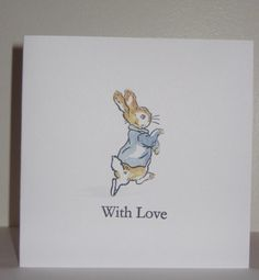 Beatrix Potter Peter Rabbit With Love Greetings Card