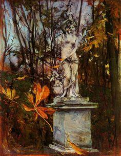 Statue in the park of Versailles, Giovanni Boldini. Italian, (1842 -1931)