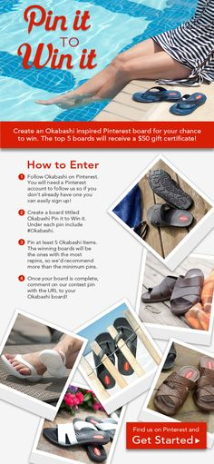 #OKABASHI Pinterest Contest- Win Gift Card #pinittowinit. Contest Deadline is July 4th. We Will be Notifying Winners on July 9th.