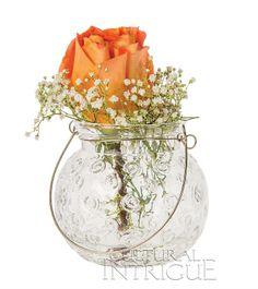 Clear Hanging Jar (mini swirl design)